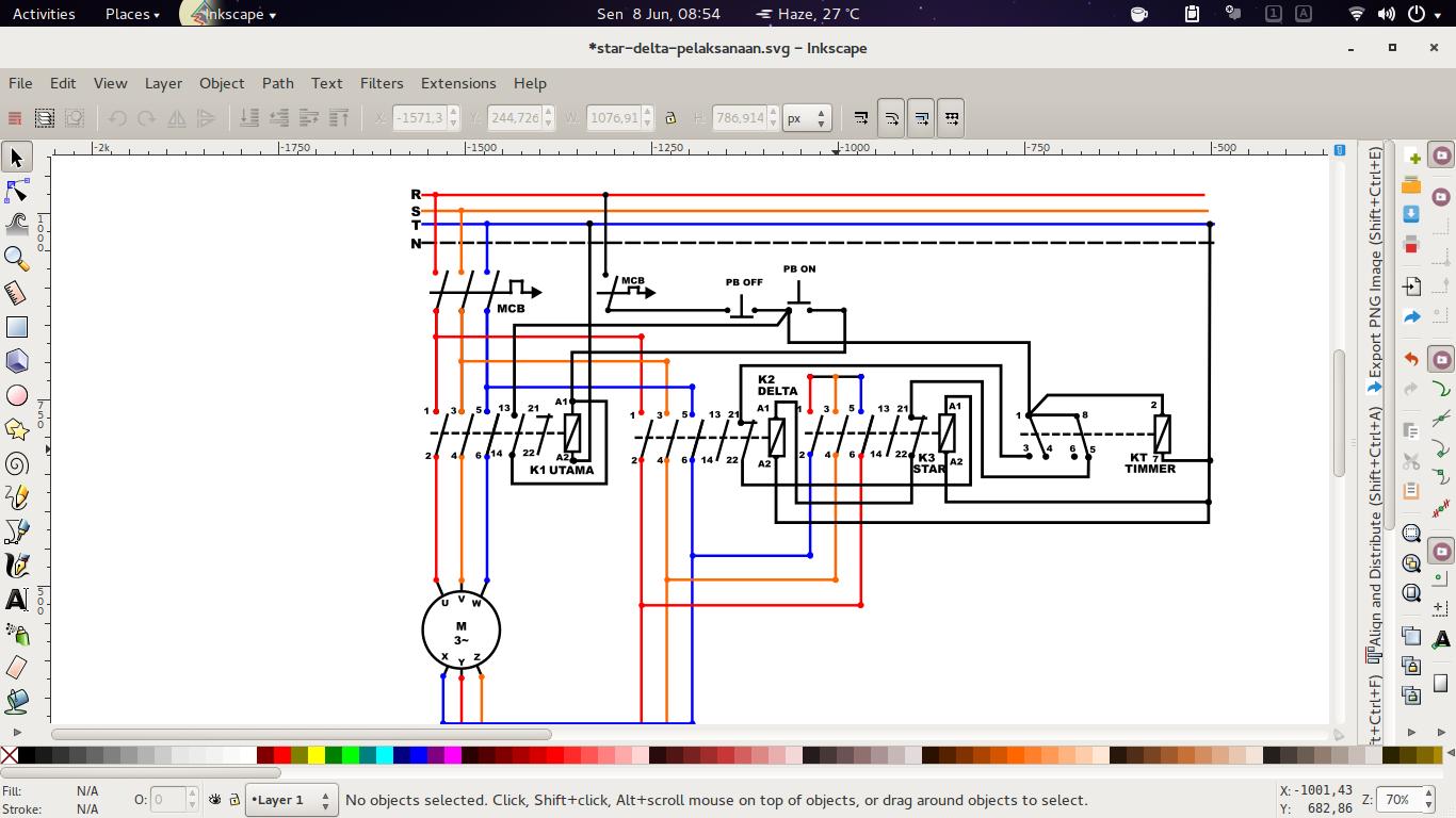 Inkscape Menggambar Rangkaian Listrik Menggunakan